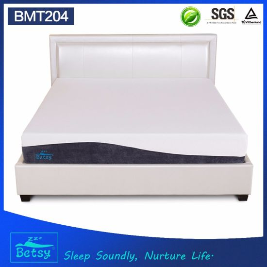 OEM Compressed Roll up Queen Size Mattress 25cm High with Gel Memory Foam and Knitted Fabric Cover pictures & photos