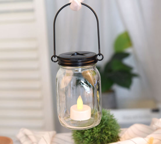 China Clear Glass Mason Jars With Handle For Oil Lamp