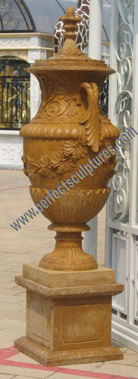 Stone Marble Flower Planter for Garden Ornament (QFP345) pictures & photos