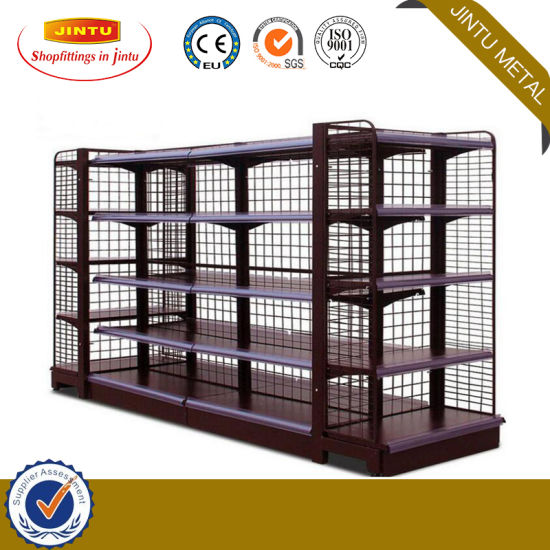 Sprayed Plastic Supermarket Shelf with Adjustable Layer Board, Available in Various Models