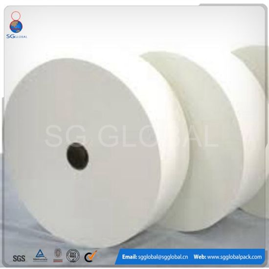 Viscose+Polyester Saturated Bonded Nonwoven Spunlace Fabric pictures & photos