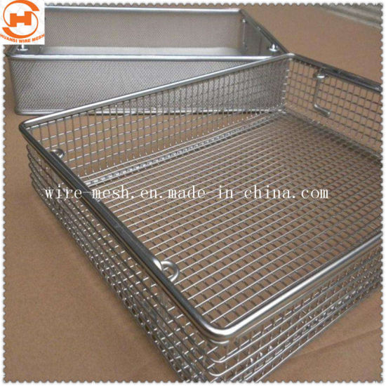 Medical Stainless Steel Wire Mesh Filter Disinfecting Basket pictures & photos