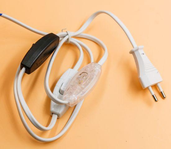 China UL Fabric Twisted Wires American 2 Pin Polarized Plug ...