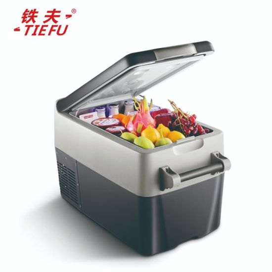 30L Portable DC Compressor Car Refrigerator AC/DC Fridge Travel Freezer