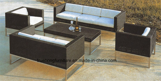 China Hotel Outdoor Dining Sets Pvc Rattan Outdoor Furniture Outdoor