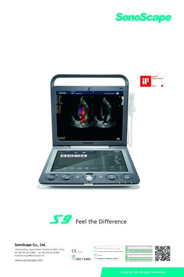Sonoscape S9 Smart and Light 4D Color Doppler Ultrasound Machine with 13.3 Inch Touch Screen