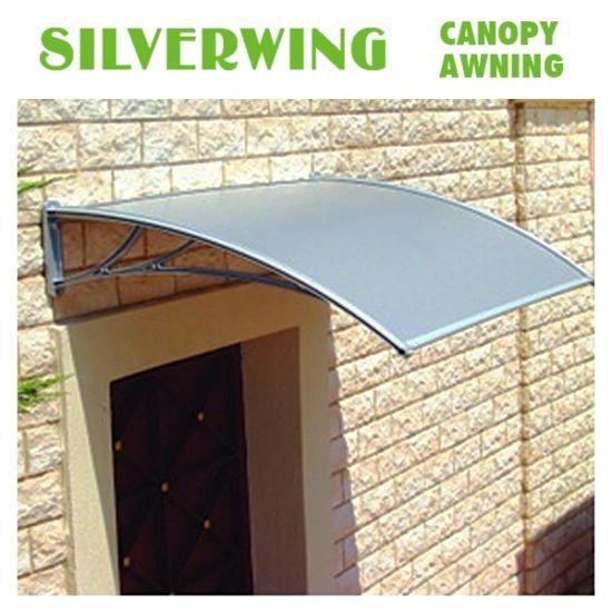 China Polycarbonate Diy Door Awning Waterproof Sun Shelter Rain