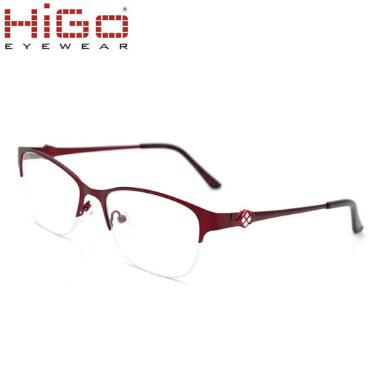 China Wholesale Eyewear Metal Material Plus Crystals Optical Frames
