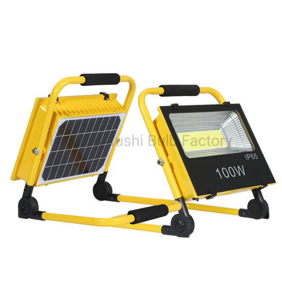 Aluminum Waterproof IP65 Portable SMD 100W All in One Solar LED Flood Light