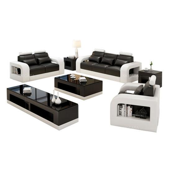 Germany Design Black with White Leather Fashion Design Sofa