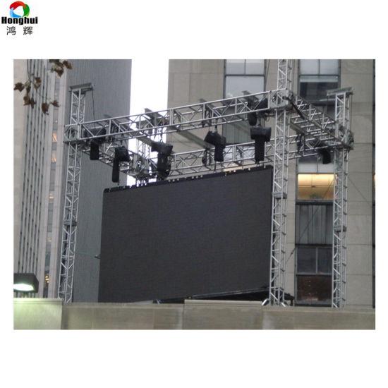 Back Maintenance Outdoor Aluminum P6 Rental LED Video Wall