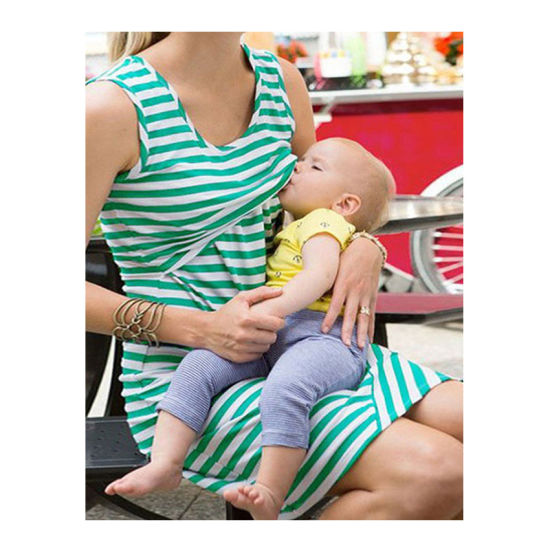6695bc925835 Breastfeeding Dresses Fashion Sleeveless Summer Maternity Dress for Pregnant  Women (18111) pictures   photos