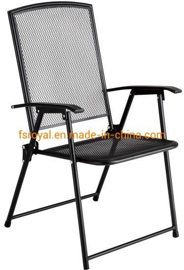 Metal Frame Black Mesh Dining Chair, Mesh Outdoor Furniture