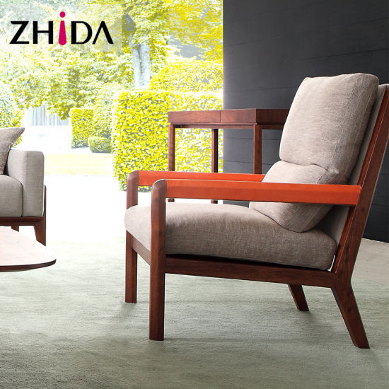 China New Design Leather And Fabric Arm Chair Mc1501 China Leather
