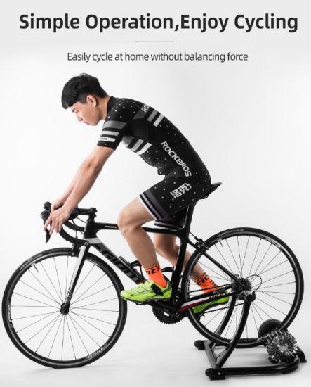 Bicycle Exercise Silent Liquid Resistance Bike Trainer MTB Road Bike Indoor Fitness Competition Folding Training Rack