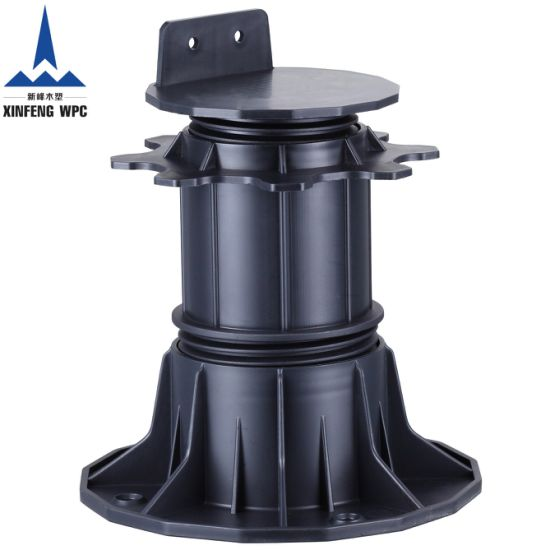Custom-Made Adjustable Plastic Pedestals with Range 140-220mm for Deckings