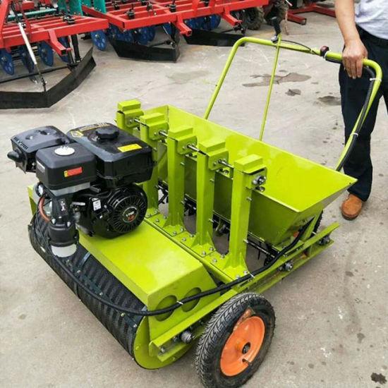 China Hand Push Walking Tractor Garlic Seeds Planter China Garlic