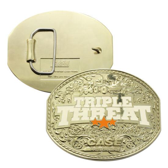 Fashion Safety Western Brass Name Metal Blank Belt Buckle Parts