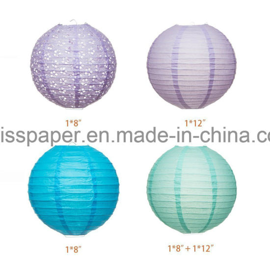 Umiss Paper Tissue Paper POM Poms Flowers Lantern Garland Kit for Party Decoration
