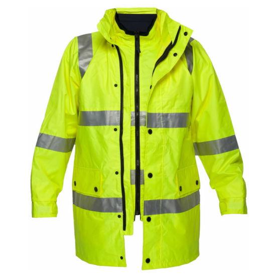 Waterproof Traffic Safety Reflective Workwear Jacket for Women Men