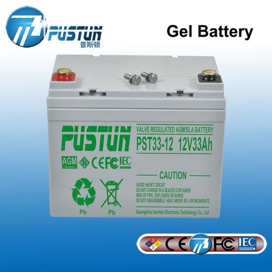 Wholesale 12V 33ah Deep Cell Solar UPS Gel Power Battery