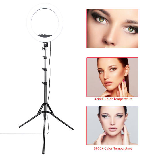 14 Inch 36W Dimmable LED Circle Makeup Selfie Ring Light with Tripod Stand with Mobile