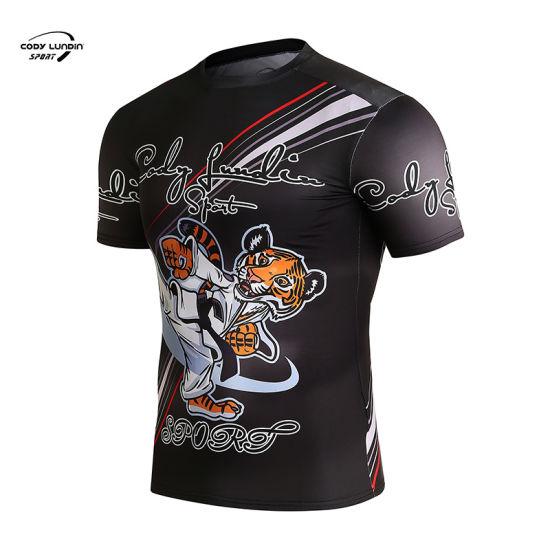 Cody Lundin Wholesale Men Women Gym White Rashguard Short Long Sleeve Sublimated Printed Custom MMA Rash Guard Compression Jersey Tshirts
