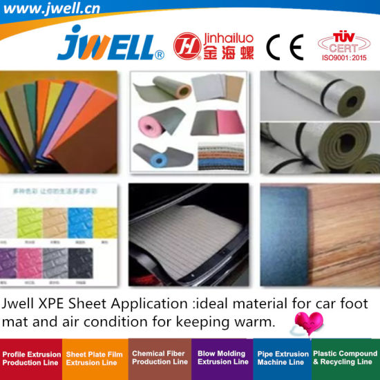 Jwell- XPE Plastic Foaming Sheet Recycling Agricultural Making Extruder Machine for Automobile Air Conditioning|Construction Sports|Shoe Material