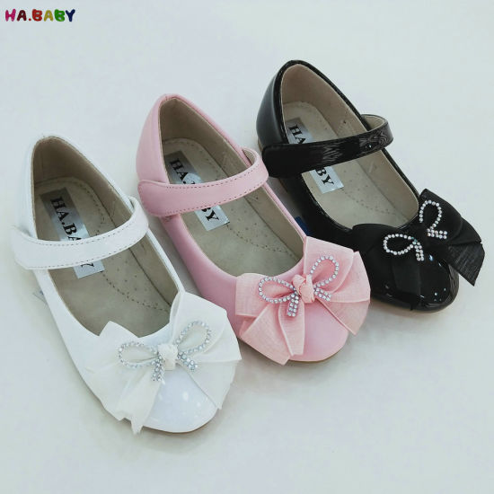Made in China Baby Girl Cheap Flower Kids Leather Shoes Children