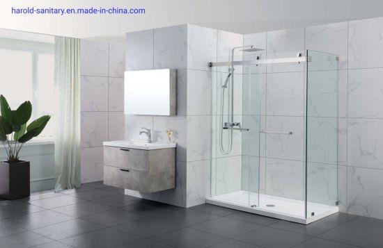 Statinless Steel Heavy-Duty Double Sliding Shower Door