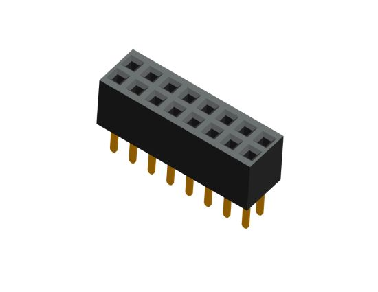 """PCB Electronic Pin Header Connector 0.1"""" Pitch Female Pin Header Used for Power Tranfer"""