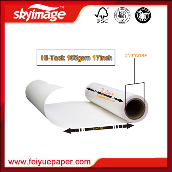 "Sticky Sublimation Paper 105GSM 17"" for Spandex Lycra Swimsuit Sportswear Printing pictures & photos"
