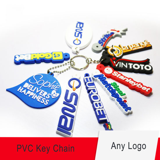 Hot Selling Custom 3D PVC Rubber Keyring Keychain for Promotional Gifts