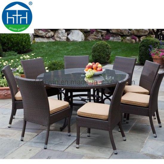 Patio Furniture Garden Wicker Rattan Poly Wood Outdoor Dining Set
