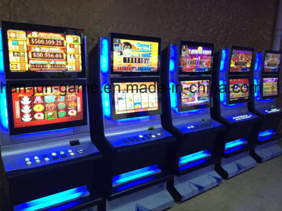 Double Monitor Casino Coin Video Game Cabinet Slot Machine for Sale Manufacturers