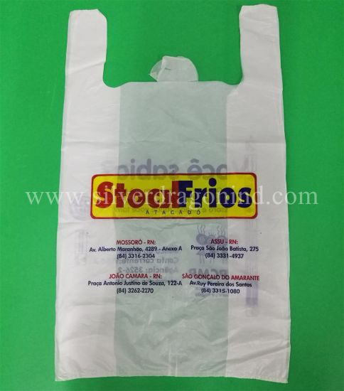 Custom Printed Plastic Poly Shopping Bag T-Shirt Bag Thank You Bag pictures & photos