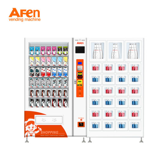 Afen High Capacity Floorstanding Packed Jeans Vending Machine with Two Cabinets