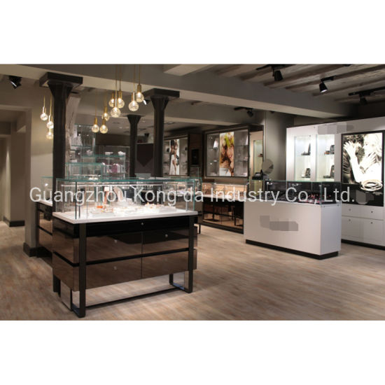 China Fashion Gold Jewelry Display Counter For Jewelry Shop Interior Design China Display Counter And Display Equipment Price