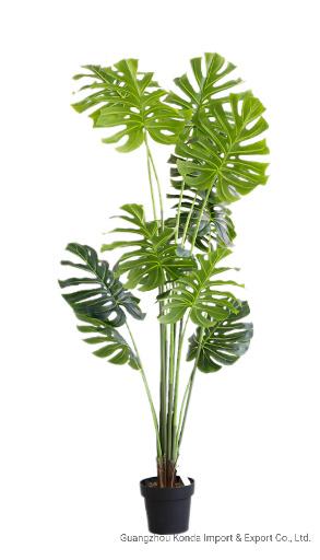 Factory Sale Cheap PE Plant Artificial Bonsai Plant Monstera for Decoration