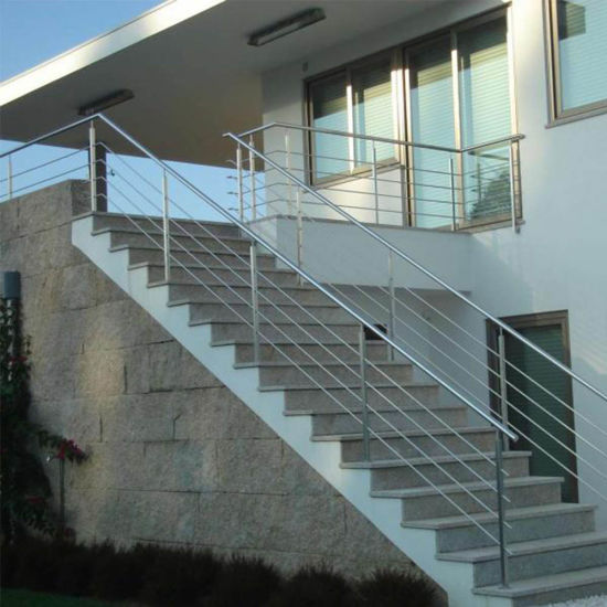 China Outdoor Staircase Balustrade Balcony Stainless Steel Railing Design China Stainless Steel Rod Balustrade Stair Railing