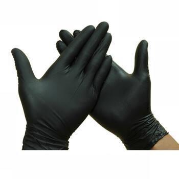 Disposable Powder Free Industrial Grade Food Grade Gloves Black PVC Vinyl Gloves
