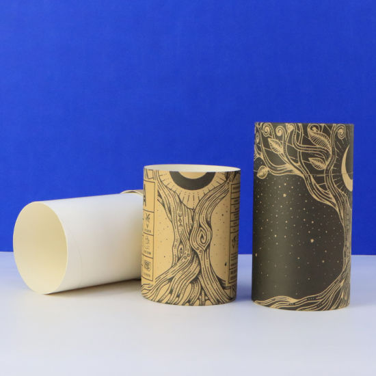Firstsail New Arrival Custom Printed Biodegradable Kraft Food Paper Can Gift Tea Coffee Cylinder Tube Packaging