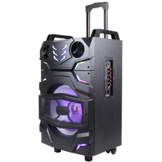 Wooden Satage Powerful Battery Trolley Bluetooth Speaker