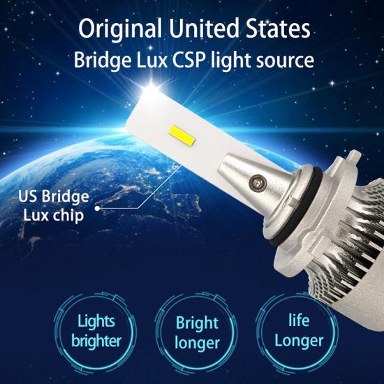 US 2PCS H11//H8//H9 ZES Car LED Headlight Bulb 8000LM 72W 6500K White Fog Light