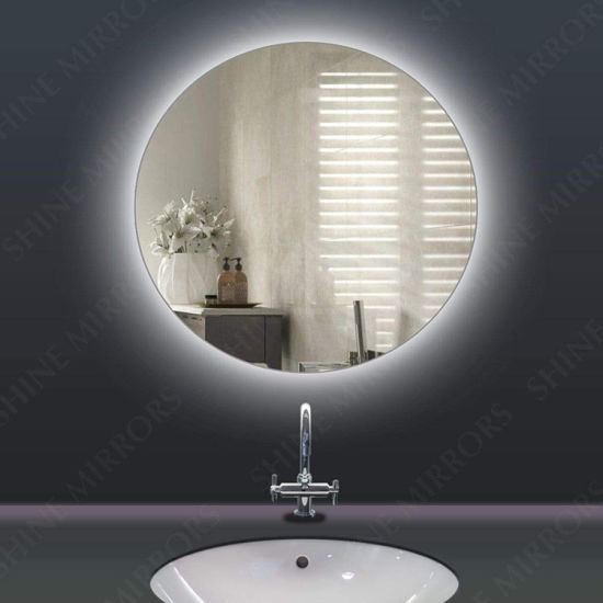 Hotel Wholesale Bathroom Illuminated Lighted Mirror Wall Mounted Round with Touch Switch