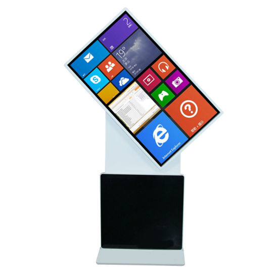 55 Inch Android and Windows Touch Screen Vertical Standing Rotary Advertising Display