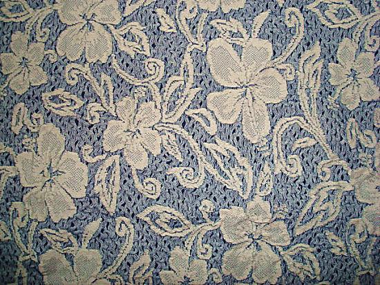 CT Stretch Jacquard Flower Jersey Fabric