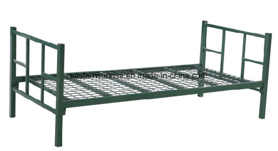 China Metal Single Bed Iron Pipe Factory Made China Children Bed