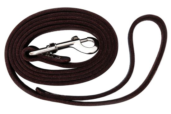 Leather Dog Training Leash Dark Brown 6 Foot X 3/4 Inch Leather Lead for Dogs pictures & photos