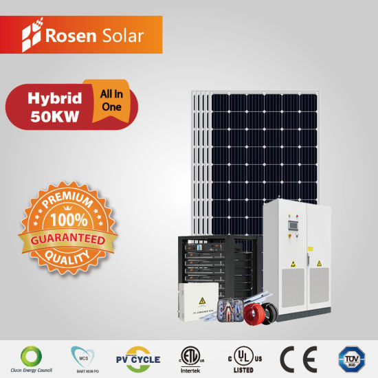 China Rosen 50kw Hybrid Solar System For Personal Home Easy